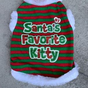 Cat Christmas Outfit NWT